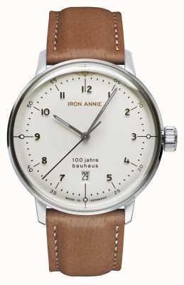 Iron Annie Bauhaus mostrador branco | pulseira de couro marrom 5046-1