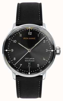 Iron Annie Bauhaus mostrador preto | pulseira de couro preto 5046-2