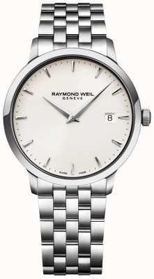 Raymond Weil Mens toccata relógio creme dial pulseira de aço inoxidável 5488-ST-40001