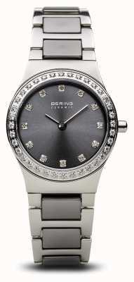Bering | mulheres de prata polida | conjunto de cristal | mostrador cinza | 32426-703