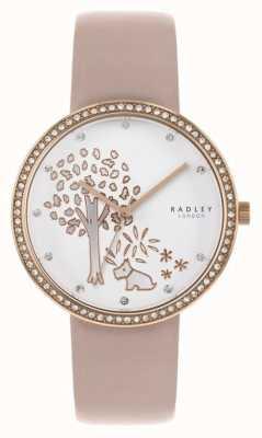 Radley | couro nu das mulheres | seletor de árvore branca | moldura de cristal RY2836