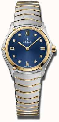 EBEL Womens sport classic | mostrador azul | pulseira de aço inoxidável 1216446A