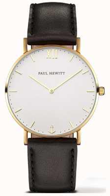 Paul Hewitt | linha marinheiro unissex relógio | pulseira de couro preto | 6450854