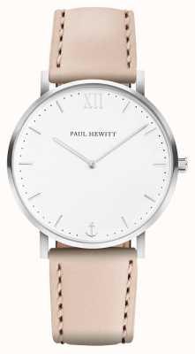 Paul Hewitt | linha de marinheiro para homem | pulseira de couro bege | PH-SA-R-5M-W-22S