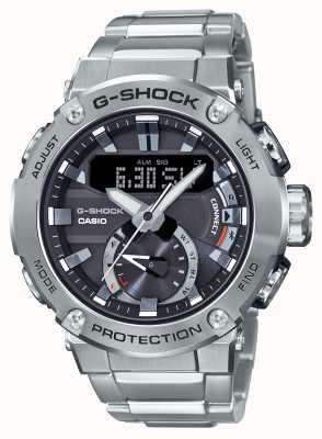 Casio Link de bluetooth g-choque G-aço 200m wr aço inoxidável GST-B200D-1AER