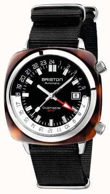 Briston Edição limitada da Clubmaster gmt auto black nato strap 19842.SA.T.1.NB