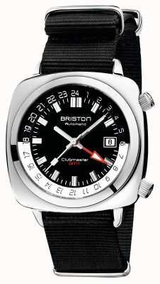 Briston Edição limitada do Clubmaster gmt | auto | pulseira preta da OTAN 19842.PS.G.1.NB