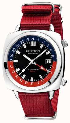 Briston Edição limitada do Clubmaster gmt | auto | pulseira vermelha da OTAN 19842.PS.G.P.NR