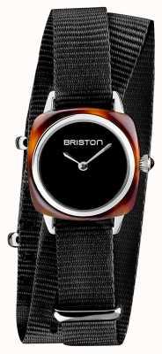 Briston | senhora do clubmaster | OTAN preta única | acetato de tartaruga | 19924.SA.T.1.NB