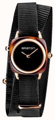 Briston | senhora do clubmaster | OTAN preta única | caso do pvd do ouro cor-de-rosa | 19924.SPRG.M.1.NB