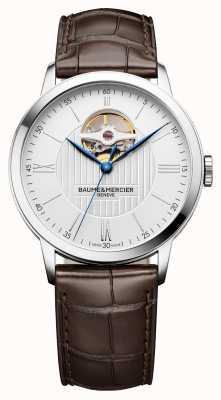 Baume & Mercier | mens classima | couro marrom | mostrador prateado | automático | M0A10274