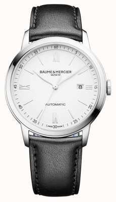 Baume & Mercier | mens classima | automático | couro preto | mostrador branco | M0A10332