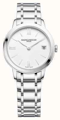 Baume & Mercier | classima das mulheres | pulseira de aço inoxidável | mostrador branco | M0A10335