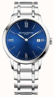 Baume & Mercier | mens classima | pulseira de aço inoxidável | mostrador azul | M0A10382