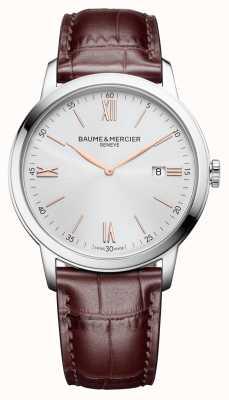 Baume & Mercier | mens classima | couro marrom claro | mostrador prateado | M0A10415