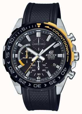 Casio | edifício clássico | pulseira de borracha preta | exibição da data do dia | EFR-566PB-1AVUEF