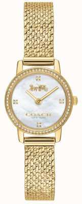 Coach | mulheres | Audrey | malha pvd de ouro | mostrador pérola | 14503371