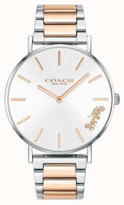 Coach | mulheres | perry | pulseira de dois tons | mostrador prateado | 14503346