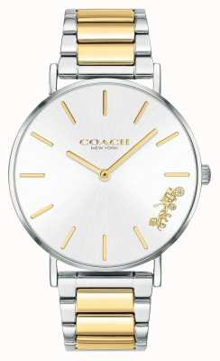 Coach | mulheres | perry | pulseira de dois tons | mostrador prateado | 14503347