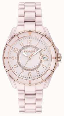 Coach | mulheres | preston | pulseira de cerâmica rosa | mostrador rosa | 14503463