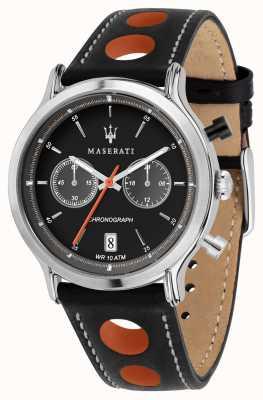 Maserati | epoca racing 42mm | pulseira de couro preto | mostrador preto | R8851138003