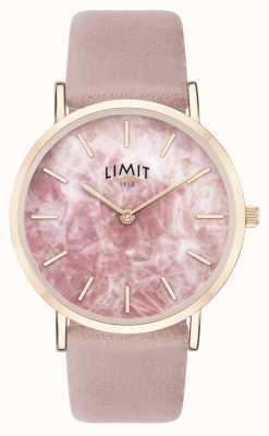 Limit | jardim secreto das mulheres | pulseira de couro rosa | mostrador rosa | 60050.73