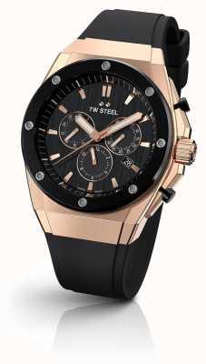TW Steel Tecnologia ceo | crono | mostrador preto | pulseira de borracha preta CE4048