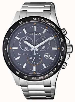 Citizen | cronógrafo eco-drive para homem | pulseira de aço inoxidável | AT2424-82H