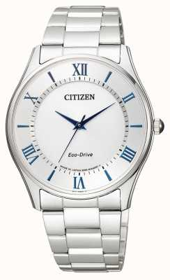 Citizen | eco-drive para homem | pulseira de aço inoxidável | mostrador prateado | BJ6480-51B