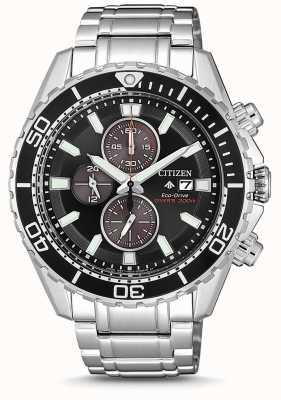 Citizen | mergulhador promaster eco-drive para homem | pulseira de aço inoxidável CA0711-80H