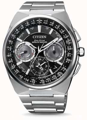 Citizen Relógio masculino com cronógrafo gps via satélite com pulseira de titânio f900 com mostrador preto CC9008-84E