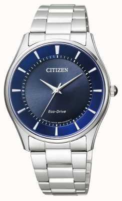 Citizen | eco-drive para homem | pulseira de aço inoxidável | mostrador azul | BJ6480-51L