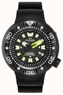 Citizen | mergulhador pro eco-drive para homem | pulseira de borracha preta | BN0175-01E
