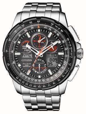 Citizen | mens eco-drive skyhawk em | pulseira de titânio | mostrador preto JY8069-88E