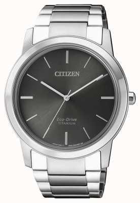 Citizen | mens eco-drive titânio wr50 | mostrador cinza | AW2020-82H