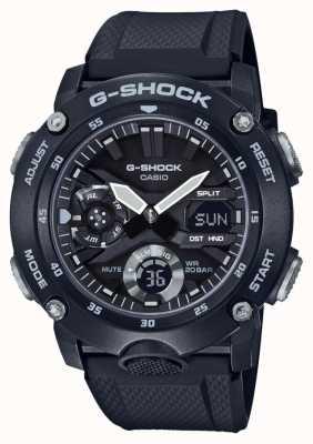 Casio | g-shock guarda núcleo de carbono | pulseira de borracha preta | GA-2000S-1AER