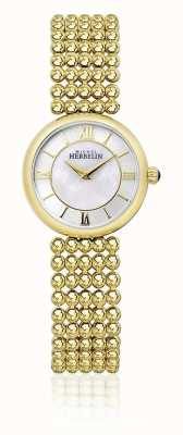 Michel Herbelin | perle das mulheres | pulseira em ouro | madrepérola dial | 17483/BP19