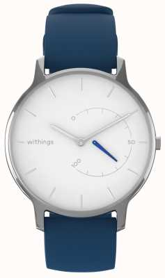 Withings Mova chique intemporal - branco, silicone azul HWA06M-TIMELESS CHIC-MODEL 2-RET-INT