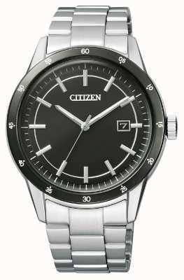 Citizen | eco-drive para homem | pulseira de aço inoxidável | mostrador preto | AW1164-53E