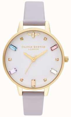 Olivia Burton | mulheres | abelha arco-íris | pulseira violeta demi parma | OB16RB11