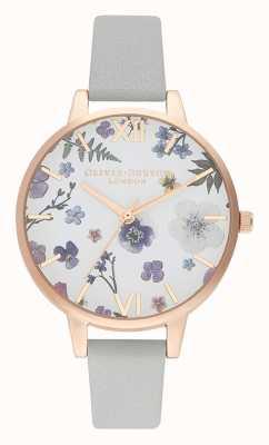 Olivia Burton | mulheres | artesão | pulseira de couro cinza | OB16AR10