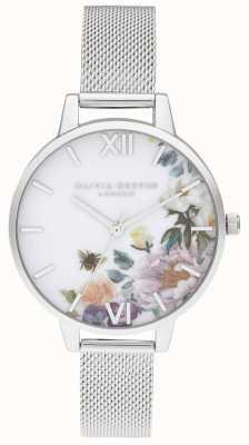 Olivia Burton | mulheres | jardins encantados | pulseira de malha de aço | OB16EG136
