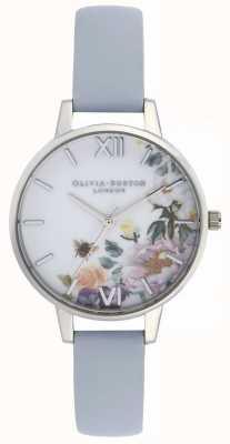 Olivia Burton   mulheres   jardim encantado   pulseira de couro azul giz   OB16EG114