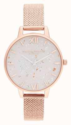 Olivia Burton | mulheres | celestial | pulseira de malha de ouro rosa | OB16GD35