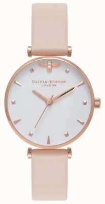 Olivia Burton | mulheres | abelha rainha | correia de couro nude bar peach t | OB16AM95
