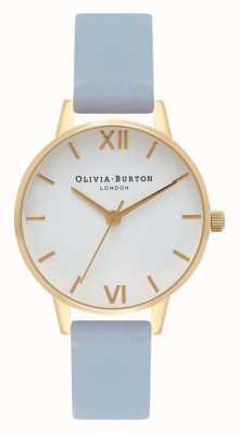 Olivia Burton | mulheres | pulseira azul giz | mostrador branco | OB16MDW24
