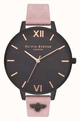 Olivia Burton | mulheres | Abelha 3d | cinta de camurça rosa embelezada | OB16ES09