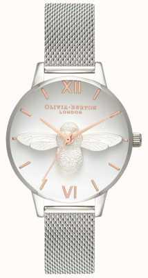 Olivia Burton | mulheres | Abelha 3d | pulseira de malha de aço inoxidável | OB16AM146