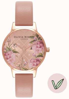 Olivia Burton | mulheres | mostrador floral | alça de areia rosa vegan | OB16VE02