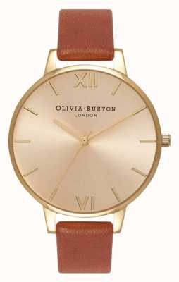 Olivia Burton | mulheres | discagem sunray | couro bronzeado | OB13BD09